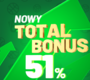 Total Bonus do 51% w Totalbet